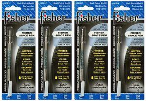 Four Fisher SPR Series Blue Ink / Fine Point Refills #SPR1F