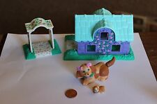 Vtg Rare 1995 Kenner Tonka Brown Puppy w baby in Belly and dog house Super Cute