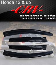 Smoke 12-16 Honda CRV Window Visor Vent Shade Rain/Sun/Wind Guard