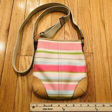Coach Hamptons Striped Swingpack Crossbody Bag