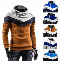 Mens Long Sleeve Slim Fit Hoodies Pullover Hooded Sweatshirt Sweater Jumper Tops