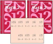 Saxon Math Grade 2 Student Workbooks & Fact Cards NEW!