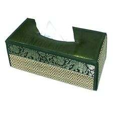 Tissue Box Cover Holder Thai Silk Reed Elephant Home Decor Handicraft Case Paper