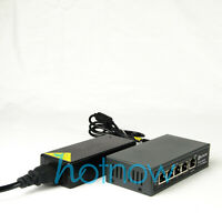 DSLRKIT 78watt 5 Port 4 PoE Switch 802.3af 802.3at Power Over Ethernet PSE14AT