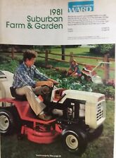 Montgomery Ward 1981 Suburban Lawn Farm Catalog Color Garden Tractor Gilson