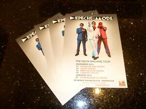 """DEPECHE MODE - """"THE DELTA MACHINE TOUR"""" (4 x PROMO CARDS)"""