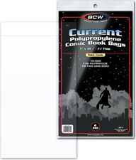 (100) BCW CUR-THICK Regular Modern Size Clear Comic Book Sleeves Bags Covers NEW