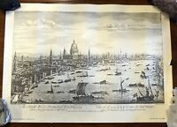 Vintage Print View of the Royal Dockyard at Deptford  London         LS0497