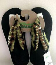 ZEALAND Flip Flops The WALKING COMPANY size 7 Memory Foam Green Camo NEW w Tags