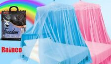 Pink Blue Round Lace Curtain Dome Tent Bed Canopy Netting Princess Mosquito Net
