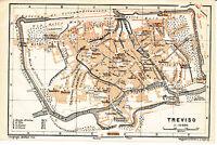 Treviso 1911 picc. piantina di città orig. Borgo Cavour Teonisto Cavalli Andrea