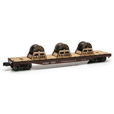 NEW - Railroad Train O Gauge Pennsylvania Flatcar 14 3/4 inch with Wire Spools