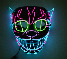 Unique Cat king modeling led Cold light Glowing multicolor masks festival Party