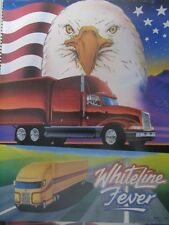 WHITELINE FEVER - 1990 MONARCH POSTER - US FLAG / EAGLE / 2 SEMI TRUCKS
