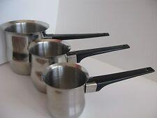 Milk Warmer & Coffee Maker Stainless Steel, Set of 3  NEW