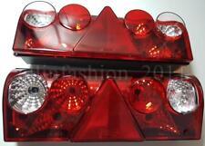 2x Rear Tail Lights Trailer Lamps Schmitz Scania DAF MAN Iveco RH LH W-socket E9