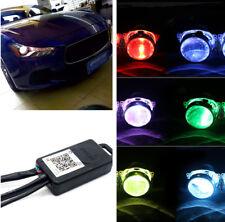 2x RGB Colorful LED Devil Eyes Bluetooth App Control For Car Headlight Retrofit