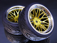 """RC TW 1:10 CLASSIC RÄDER """"CLASSIC BBCG"""" IN CHROM / GOLD 9MM OFFSET # kbbcg9"""