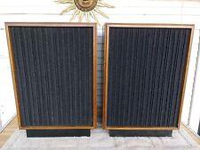 Jensen Model 6 Vintage Speaker 4-Way 15 Woofer Huge Walnut Veneer w/Stands Wow!