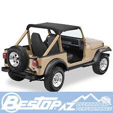 Bestop Strapless Bikini Top fits 1987-1991 Jeep Wrangler YJ Black Crush 52509-01