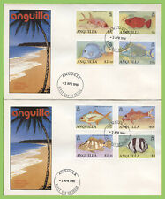 Anguilla 1990 Fish definitives set on four First Day Covers