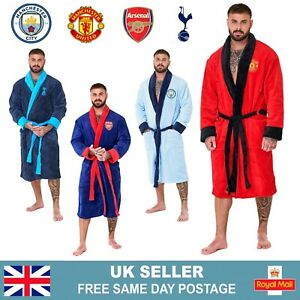 Mens Official Football Club Dressing Gown | Fleece Football Robe | Size S-XL