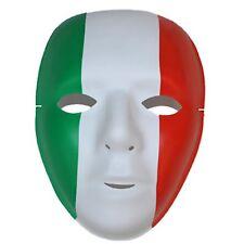 Maschera con disegno tricolore per tifo italia