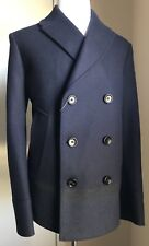 New $2900 Gucci Mens Coat Felt Placed Stripe Jersey DK Blue 44R US ( 54R Eu )