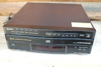 Sony CDP-C322M 5 Disc CD Changer Compact Disc Player Tested Working (No Remote)