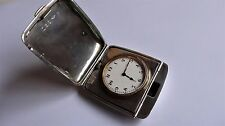 Heavy English Solid Antique Vintage Travel Pocket Watch RARE