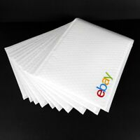 eBay-Branded Padded Bubble Mailers 10 White w Multicolor Logo 8.5 x 11.25 Inch