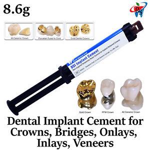 Implant Cement Dental Crowns Bridges Veneers Onlays Inlays Automix Self Adhesive