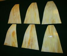 6 BEAUTIFUL SLAG GLASS PANELS FROM AN ANTIQUE PANEL LAMP