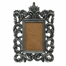"Baroque Rococo 4""x6"" Photo Picture Frame, Portait Orientation - Ornate Carved Si"