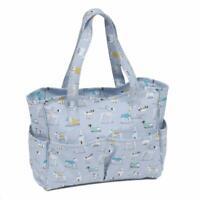 HobbyGift Knitting Craft Bag - Matt PVC: A Dog's Life Design