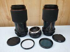 2 x TONIKA II LENS 70-210mm 1:4-5.6 & 1 x KING MC AUTO TELE CONVERTER + FILTERS