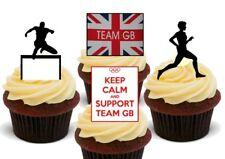 Juegos Olímpicos equipo de GB Atletismo Correr salto por deflectores Mezcla Premium Tarjeta Cake Toppers