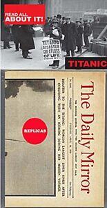 Titanic Replica Newspaper: Daily Mirror Tuesday April 16th 1912 (mp)