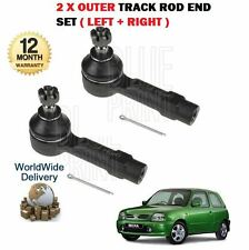 FOR NISSAN MICRA K11 1993-2002 NEW 2 X OUTER STEERING RACK TRACK ROD END SET
