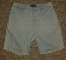Rugby Ralph Lauren Men's Cotton Shorts Vintage Size 34 Light Blue