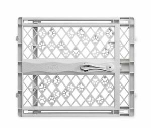 MyPet Tension-Mount Portable Pet Dog Gate in Grey Indoor Outdoor Safe Home Fence