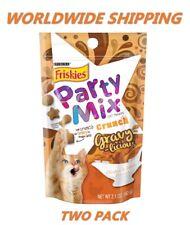 Purina Friskies Party Mix Cat Treats Gravy-licious 2.1 Oz TWO PACK WORLD SHIP