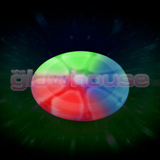 Luz resplandor Frisbee disco volador brillante de color multi