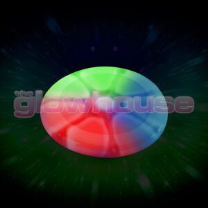 Light Up Glow Frisbee Multi Colour Glowing Flying Disc