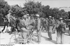 German Army Soldiers Italy Sept 1943 Bicycle World War 2 Reprint Photo 6x4 Inch