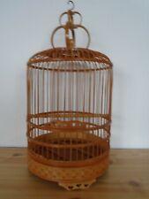 Vintage Wooden Round Decorative Bird Cage Decor.