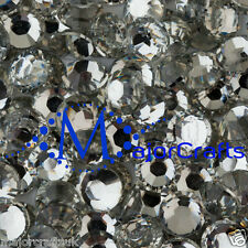 5000 pcs Mixed Sizes Crystal Clear Flat Back Resin Rhinestones Diamante Beads