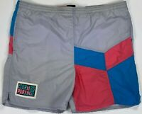 Hobie Surfers Paradise mens swim trunks shorts color block large vintage