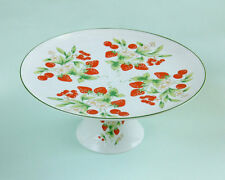 Mar-Lyn Design Marc BERRIES JUBILEE Strawberry Cherry Footed Cake Plate/Stand