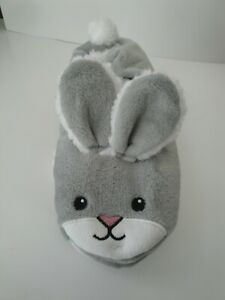 Womens Fuzzy Bunny Slippers ~ Slip-On ~ Non-Skid Size Med/Lg 8-10